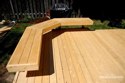 bench seating on deck deck accessories handrails benches backyard fire pit