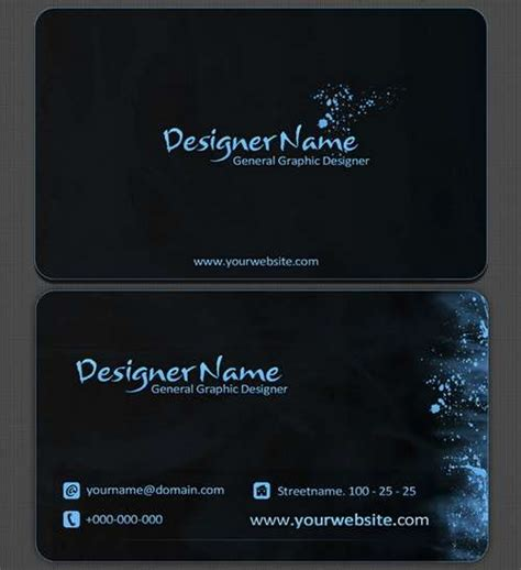 black card template business cards 60 absolutely free and black