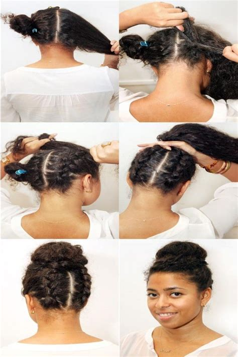 protective styles double braid and girls on pinterest double braid bun refinery29 hair pinterest natural