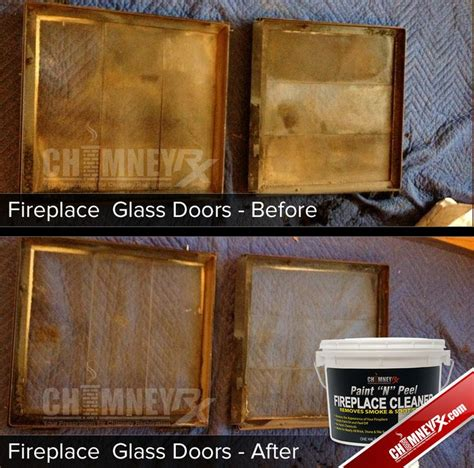 Cleaning Glass Fireplace Doors Cleaning Fireplace Glass Doors How To Clean Glass