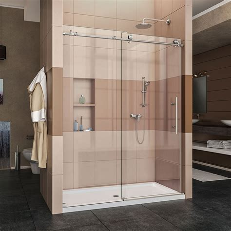 Frameless Shower Door Width Recommended Best Sliding Shower Door Reviews Guide