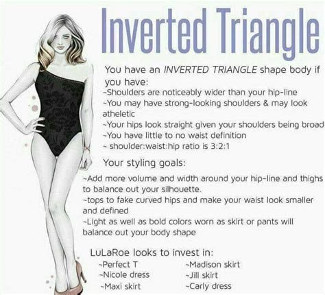 how to dress the inverted triangle body shape by pin by erin o brien on lularoe pinterest inverted