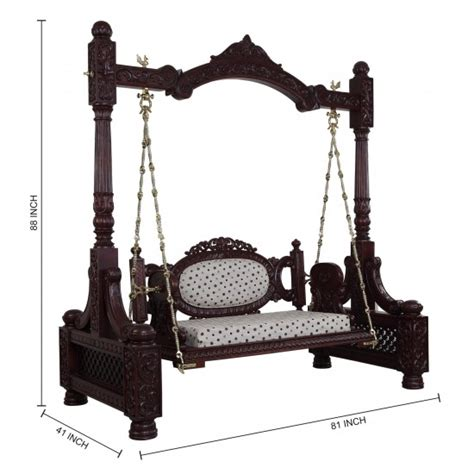wooden swing price beautiful carved walnut indian traditional royal swings
