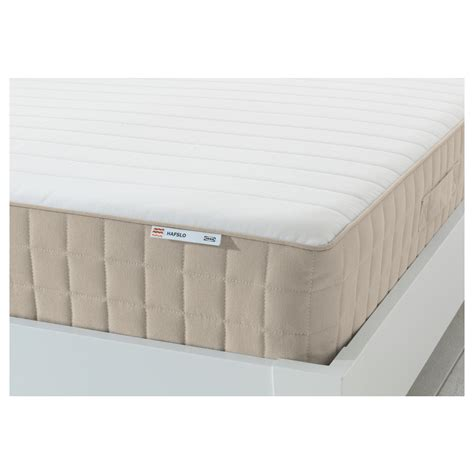 Single Mattress Topper Ikea Hafslo Sprung Mattress Medium Firm Beige Standard Single Ikea