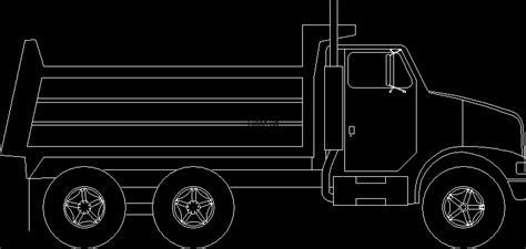 dump truck lateral view  autocad  cad   kb bibliocad