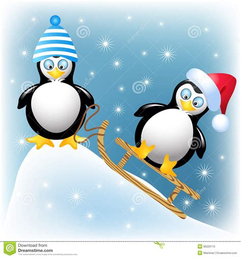 Abstrak Pinguin 1 penguins stock vector illustration of card