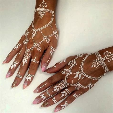 nail art with tattoo henna best 25 white henna ideas on henna tattoos
