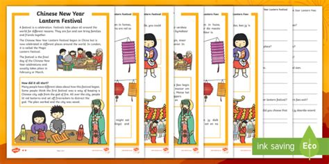 new year lanterns twinkl new year lantern festival differentiated reading