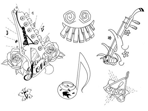tattoo flash music piano tattoos and designs page 41