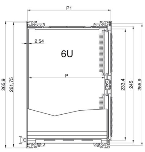 armadio rac subracks e subunit porta moduli contenitori in alluminio