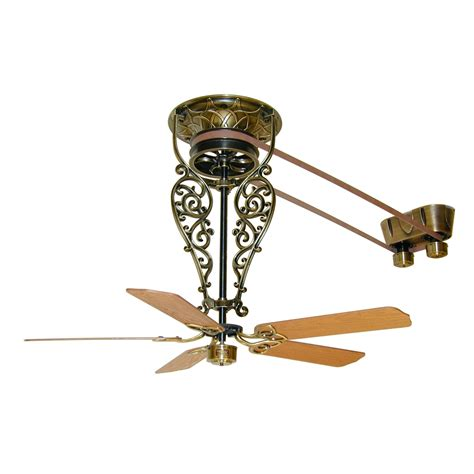 vintage belt driven ceiling fans fanimation fp520ab bourbon street collection old time belt
