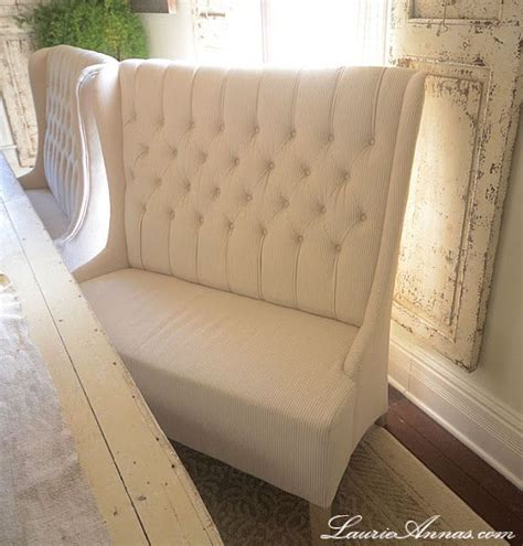 tufted high back bench high back tufted loveseat 678 from joss main bench seating in a dining room