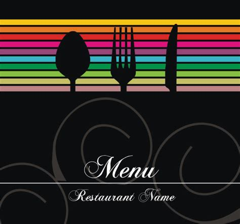 restaurant menu powerpoint template restaurant menu cover background vector 03 millions