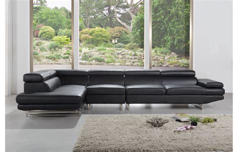 canap 233 en cuir design et moderne de couleur noir teck in