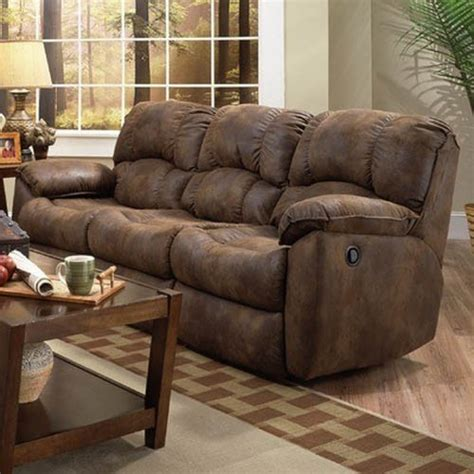 Microsuede Reclining Sofa by Recline Designs Davis Microsuede Dual Reclining Sofa