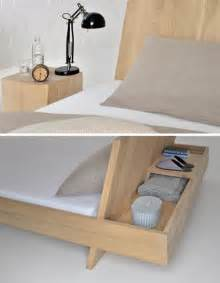 nifty built in nightstand hides the bed s headboard