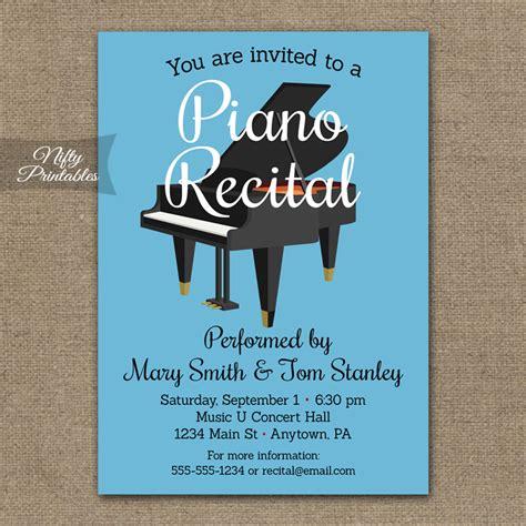 printable recital invitations piano recital invitation nifty printables