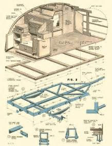 rv plans vintage teardrop trailer cers chuck wagon plans