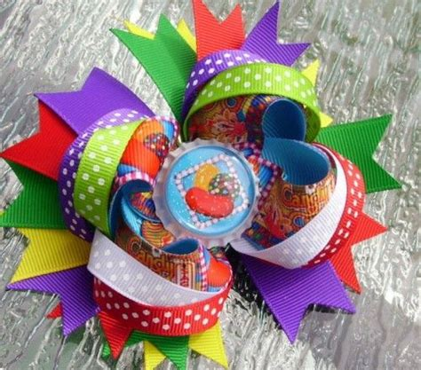 Different Type Of Hair Bows by Crush Saga Inspired Stacked Bottle Cap Hair Bow