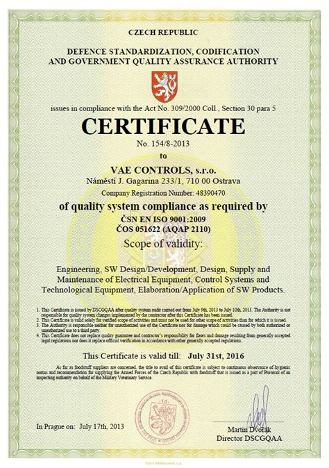 certificate design software certificates vae controls