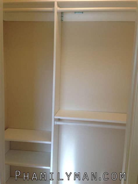 built a custom closet organizer phamily