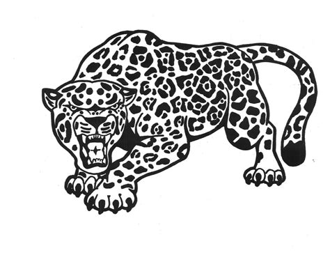 Realistic Wild Animal Jaguar Coloring Pages Womanmate Com Coloring Pages Jaguar