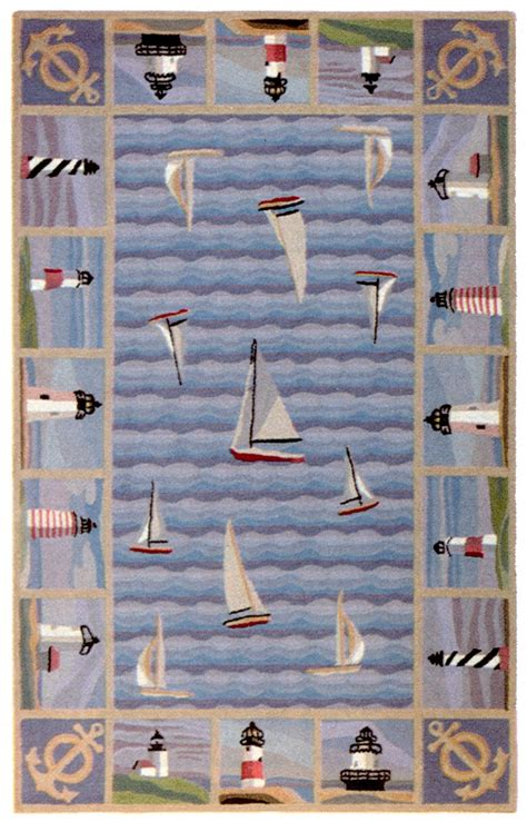 sailboat rug sailboat anchor area rug murray hooked rugs pinte