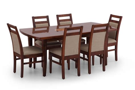 buy inlay dining table set wooden dining set for 6 ekbote furniture india