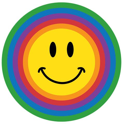 smiley face susan s school daze rainbow color smileys