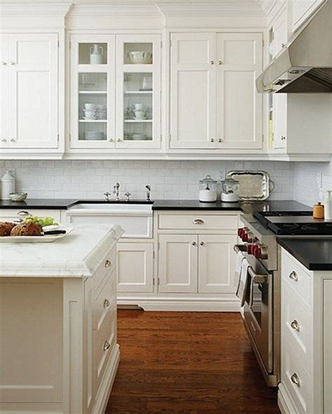 Black Shaker Kitchen Cabinets My Favourite Kitchen Traditional Shaker Style Cabinets White Marble Island Black Countertops