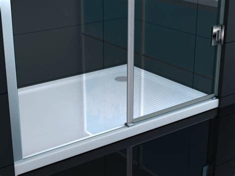 installazione piatto doccia parete doccia con porta battente lusso vetro
