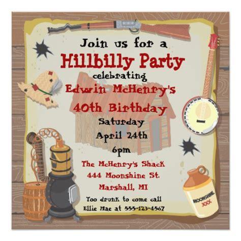 172 hillbilly invitations hillbilly announcements