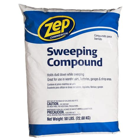 shop zep commercial sweeping compound 50 lb at lowes