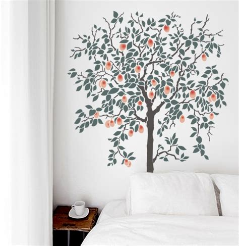 large tree template for wall large tree stencils olive leaf stencils