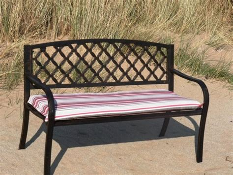 park bench seat cushions steel park bench with 4ft comfort cushion steel garden bench 4ft cushion 89 99 shop