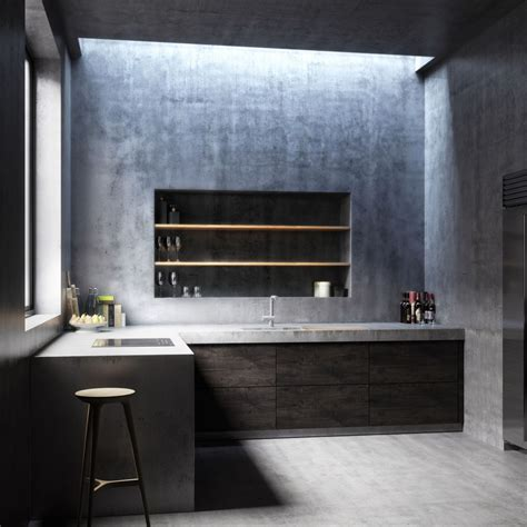 Concrete Kitchen Design 15 Stylish Kitchen Designs With Concrete Counter Highlights