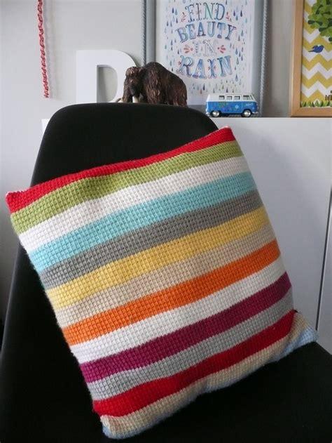 Tunisian Crochet Pillow by Tunesian Crochet Pillow Crochet W I P Tadaahs