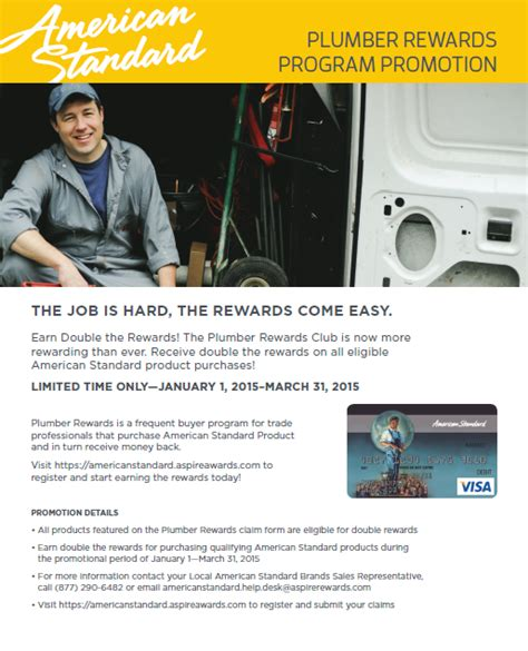 Plumbing Programs by Plumber Rewards Program Promotion