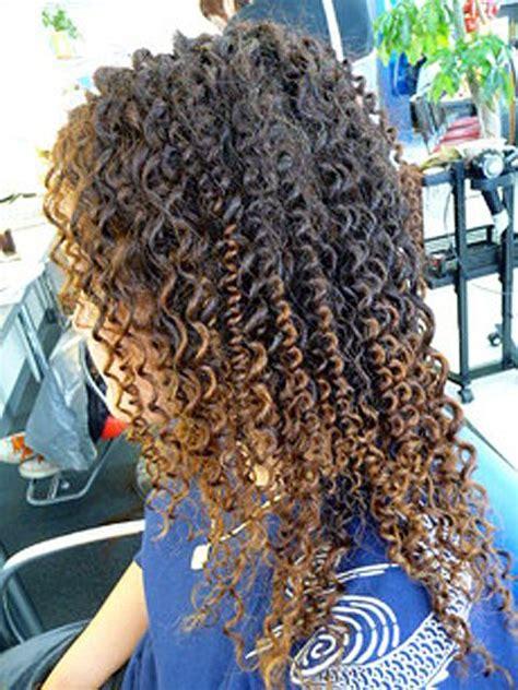 long hair tight curly spiral perm spiral perm long hair