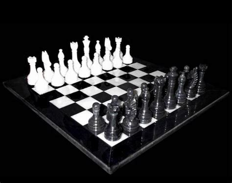 white chess set handcrafted classic black and white marble chess set