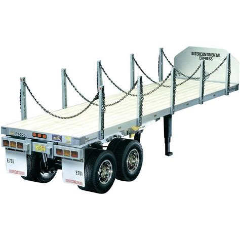 Tamiya Trailer tamiya henger 1 14 flatbed semi trailer kit elefun no