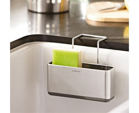 kitchen sink caddy simplehuman slim sink caddy brushed stainless steel