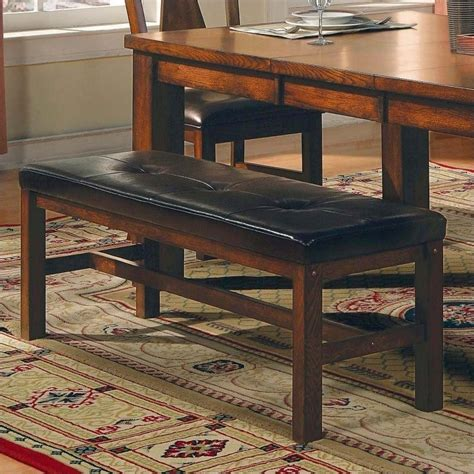steve silver company lakewood rich oak dining bench lk400bn