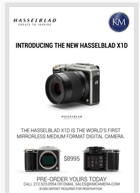 mirrorless price medium format mirrorless hasselblad x1d