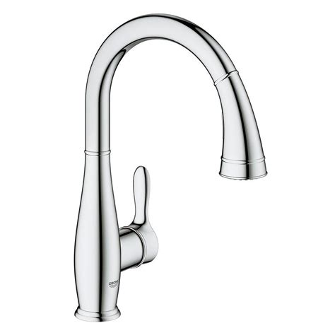 Pull Down Faucet Kitchen grohe chrome pull down faucet pull down chrome grohe