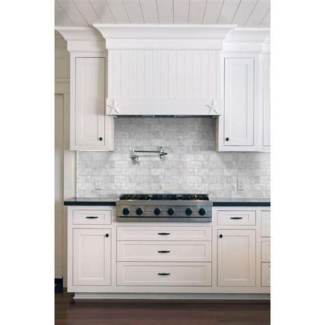 tile white venatino linear mosaic marble wall tile anatolia tile 8 pack venatino polished marble