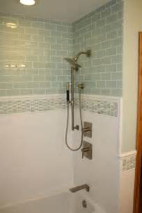 glass subway tile bathroom ideas best 25 glass tile shower ideas on glass tile