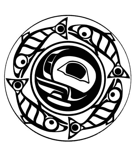 art northwest coastal people true moon mandala native