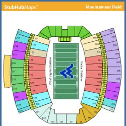 mountaineer field seating chart mountaineer field at milan puskar stadium events and