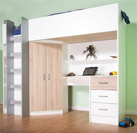 High Sleeper Cabin Beds by Cristchurch High Cabin Sleeper Bed In White With Oak Features